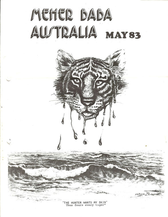 Courtesy of Meher Baba Australia newsletter - May 1983 cover