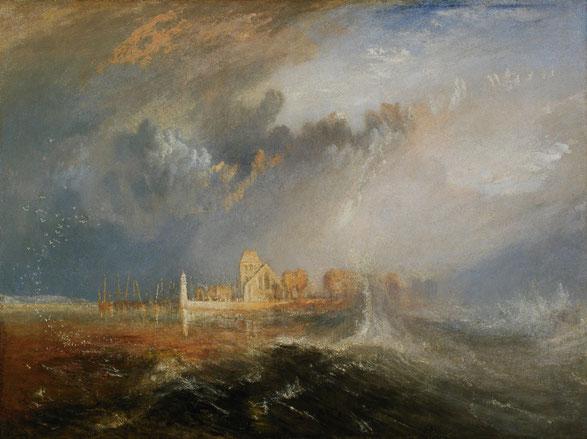 """J.M.W. Turner, """"Quillebeuf, Bocca della Senna"""" (1833)"""
