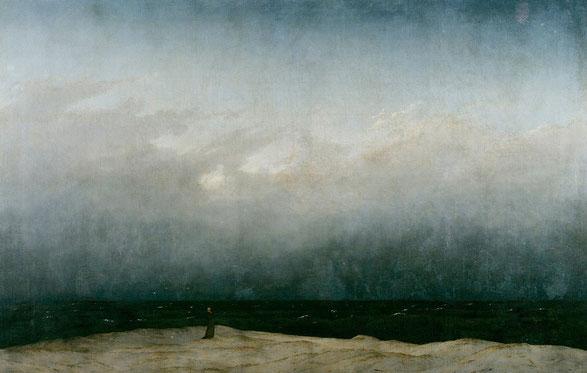 """Caspar David Friedrich, """"Monaco in riva al mare"""" (1808-1810)"""