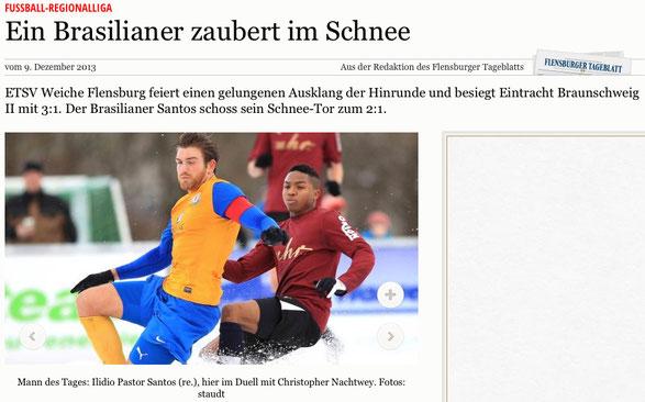 Flensburger Tageblatt, 09.12.2013