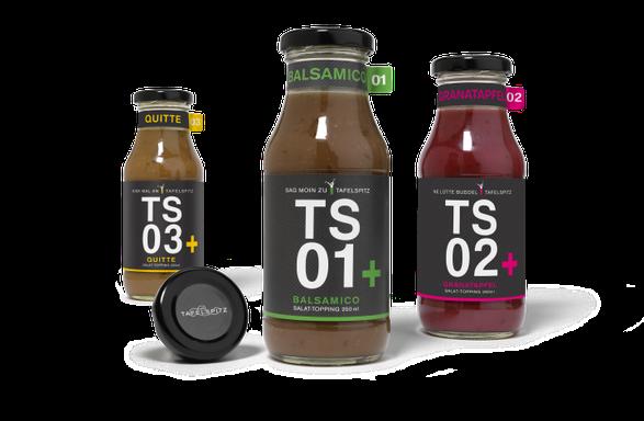Tafelspitz - TS+ Tressing - Design - Entwicklung - hauseigene Saucen -  Packaging - Design - DesignKis - 2015 - Verpackung