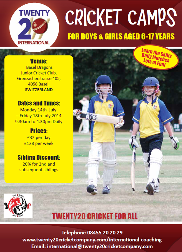 Basel Summer Cricket Camp (14-18.07.2014)