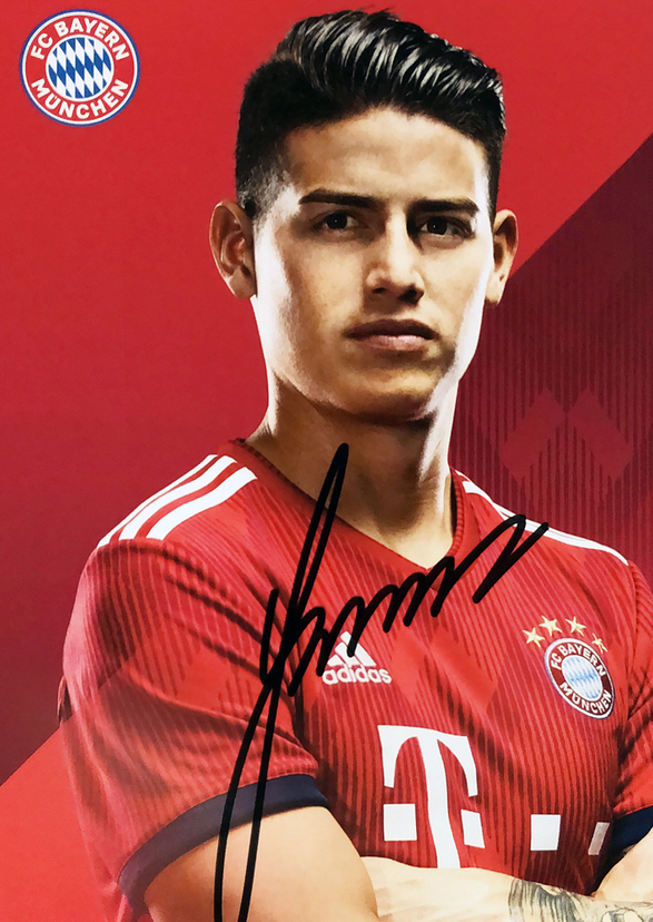 Autograph James Rodrigues Autogramm