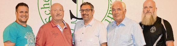 Der Vorstand: (v.l.) Marco Maurer, Klaus Pahl, Andreas Palioudakis, Friedrich Tödt und Heiko Hoener.