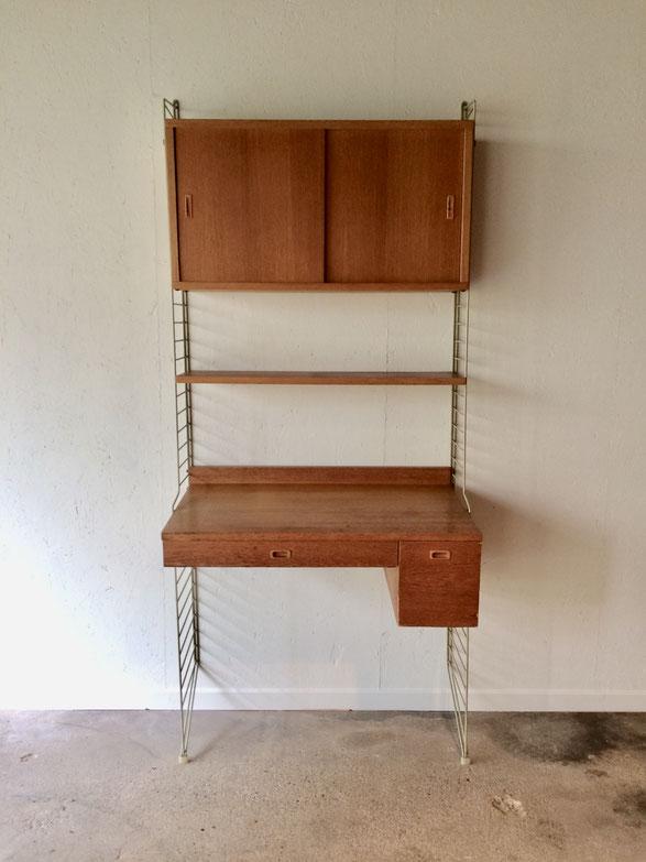 Joli, étagère String, String shelf, String furniture, étagère suspendue, étagère vintage, bureau vintage