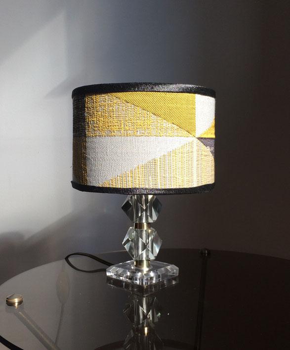 lampe de table, lampe de chevet, lampe vintage, lampe en cristal