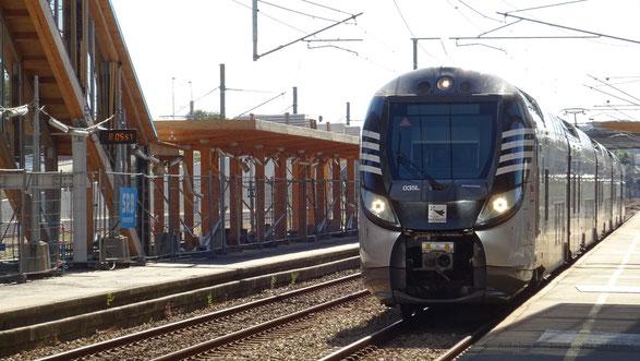 Les Bombardier Regio2N assurent la majorité des relations entre Saint-Malo et Rennes sur le réseau TER Bretagne.
