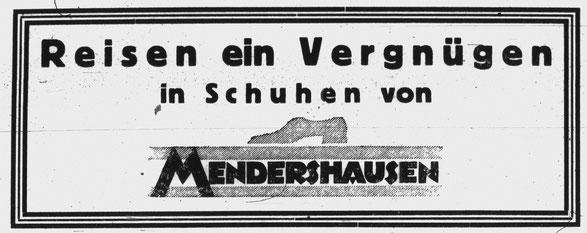 Anzeige in der Jüdischen Wochenzeitung für Kassel, Hessen und Waldeck 1928, Nr. 25