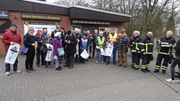 Die BVO Mannschaft und die freiw.-Feuerwehr Oldenfelde-Siedlung waren dabei
