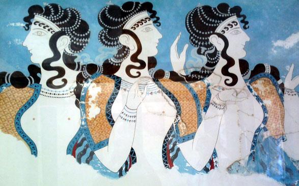 Blaue Damen von Knossos