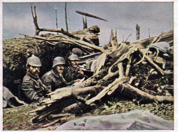 Waldgraben vor Verdun Zigaretten - Sammelbild