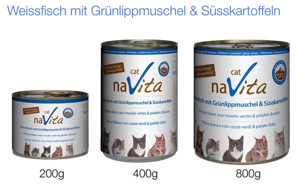 naVita-Naturkost für Fischliebhaber, (enthält auch Rindfleisch)