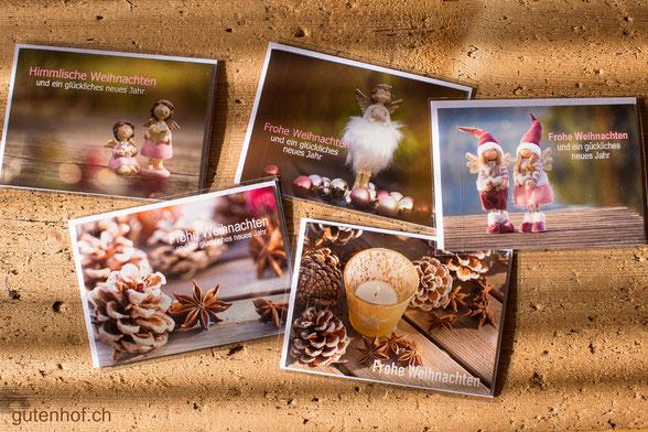 Weihnachtskarten, Weihnachtskarten bestellen, Weihnachtskarten Schweiz, Weihnachtskarten mit Engel