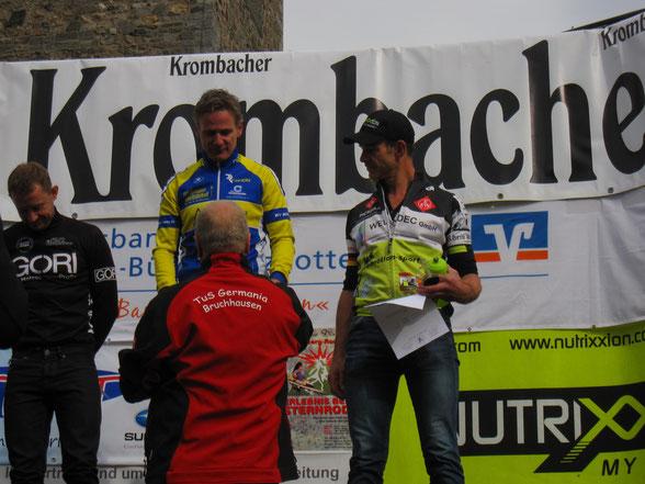 Ehrung für den 3. bzw. im Nachhinein abgeänderten 2.Platz des Langenbergmarathon 2015