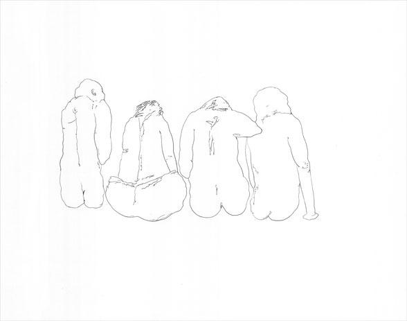 Primaten, 2010 Bleistift auf Papier, 38x46 cm