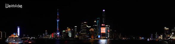 CHI01 - Shanghai, Blick vom Bund zum Stadtteil Pudong