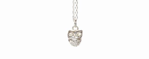 small silver owl Emma Hedley Jewellery