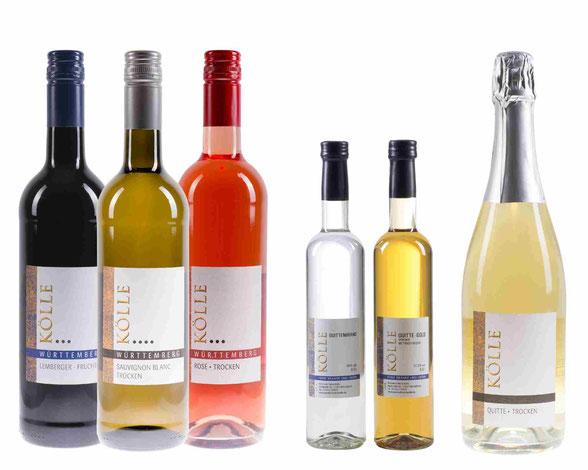 Kölle Weiß-, Rose- und Rotweine, Destillate und Sekte