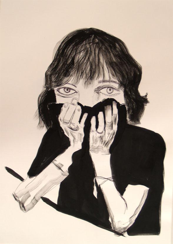 Patti (after Frank Stefanko), 2020, 42 x 60 cm,  ink on paper