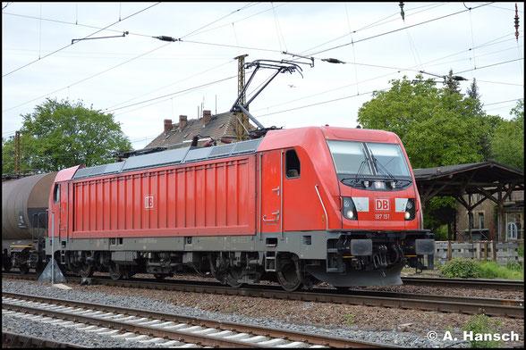 Am 15. Mai 2019 ist die BR 187 bereits allgegenwärtig. 187 151-6 begegnet mir in Leipzig-Wiederitzsch mit gemischten Waren