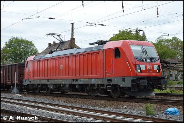 187 155-7 rollt gemächlich durch Leipzig-Wiederitzsch (15. Mai 2019)