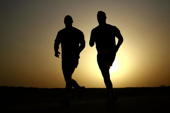 Sport machen, Joggen bei Tockenen Augen