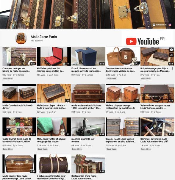 Youtube malle2luxe Paris video gratuite Malle Louis Vuitton