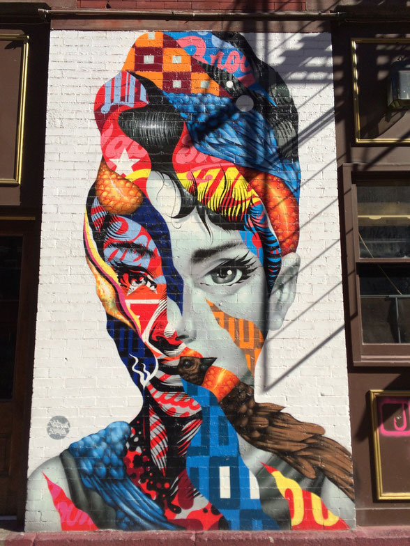 Graffiti in Little Italy in New York City.