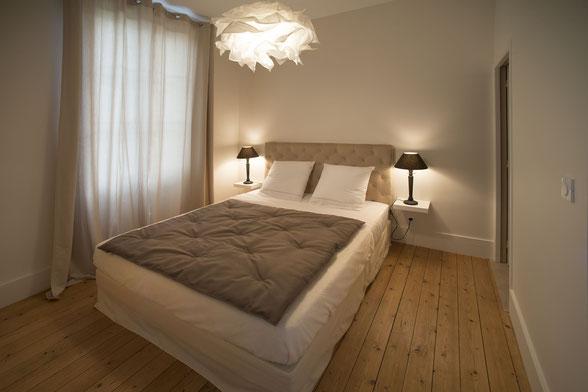 chambres d'hotes le cercle à Coligny 01270 dans l' Ain entre Jura, Bresse et Revermont. Chambre rouge-gorge.