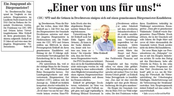 Neue Stader Wochenblatt vom 10. September 2014