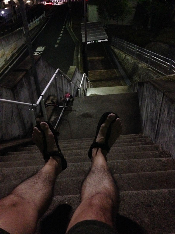 汚い足ですいませんです。。。