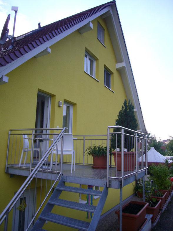Bild: Ferienwohnung im Gelben Haus in Meersburg direkt am Bodensee mit Seesicht