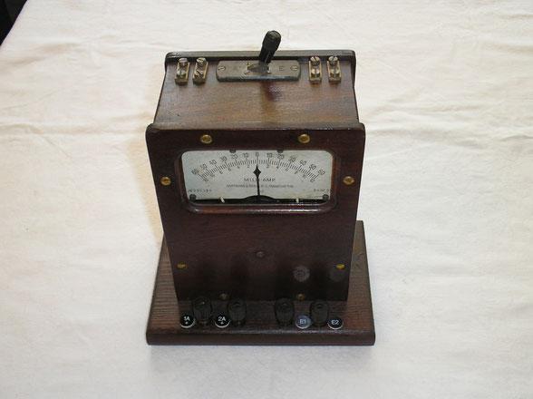 Milliampere - Meter für Telegraphentechnik von 1920 Hartmann & Braun Frankfurt a/M.