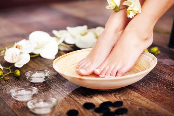 fußpflege erkelenz - schöne gepflegte Füße nach einer Behandlung