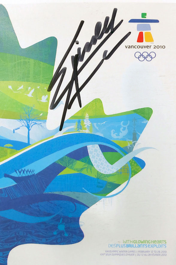 Simon Ammann Switzerland, Ski Jump, 4 times  Olympia Gold (twice Salt Lake City, twice Vancouver), Autograph by Mail