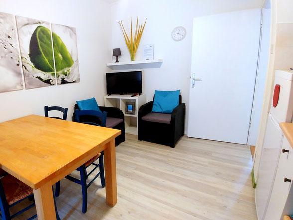 Green apt. - kitchen/livingroom -  Belvedere apartments Izola