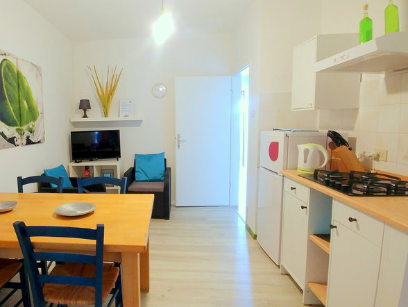 Green apt. - kitchen/livingroom -  Belvedere apartments Izola