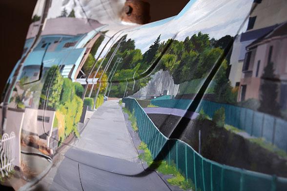 """Daisuke Samejima / """"Invisible"""" [part] / old merry-go-round horse, iron, acrylic"""