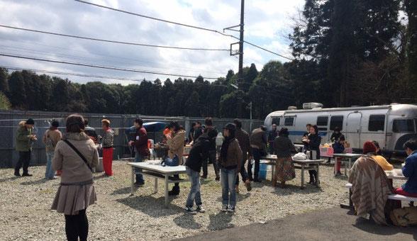 千葉県の印西市にあるユタカファームのキャンプ会場