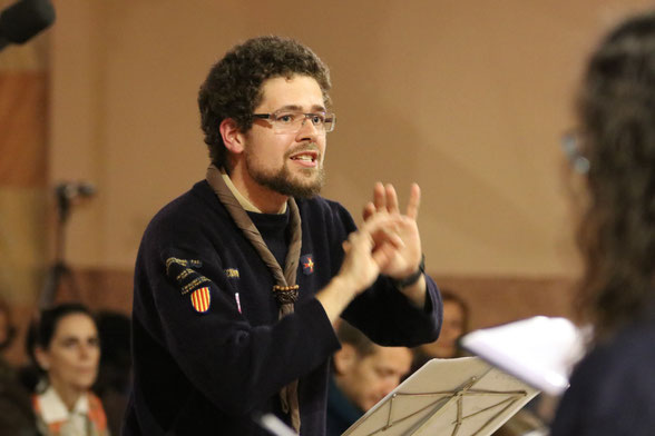 Joan Alfons Hernández, director del cor de Guies i Scouts d'Europa