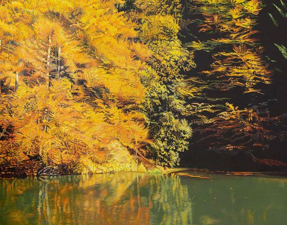 Eastvillage | 2014 | 50 x 175 cm | Acryl auf Baumwolle