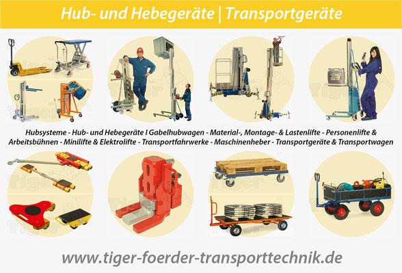 Tiger-Transportgeräte | Hub- und Hebegeräte
