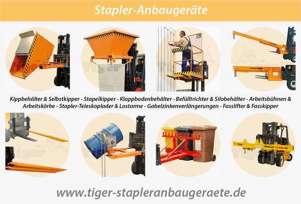 Tiger-Stapleranbaugeräte