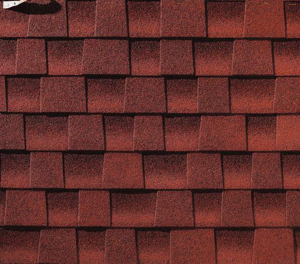 Dachówka bitumiczna, gont, gonty, GAF,  Timberline HD w kolorze Patriot Red