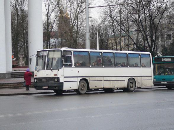 Городской автобус большого класса Ikarus 260.43. Витебск. 12.01.2007