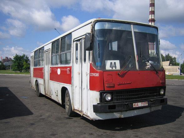 Городской автобус большого класса Ikarus 260. Минск. 16.06.2006