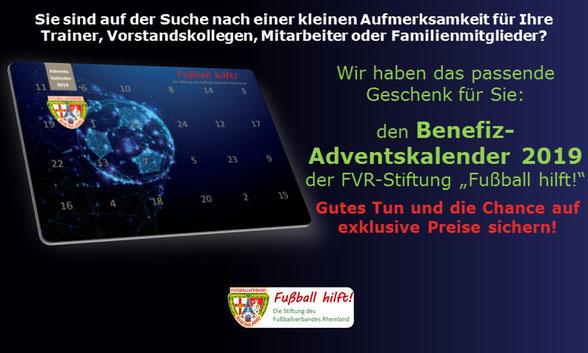 Adventskalender 2019 Fussball Hilft Die Stiftung Des