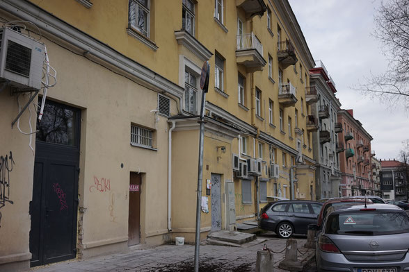 Behind the sovjet-time houses of the so called German street in Vilnius