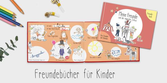 Kreatives Freundebuch Kindergarten und Grundschule zum Ausmalen
