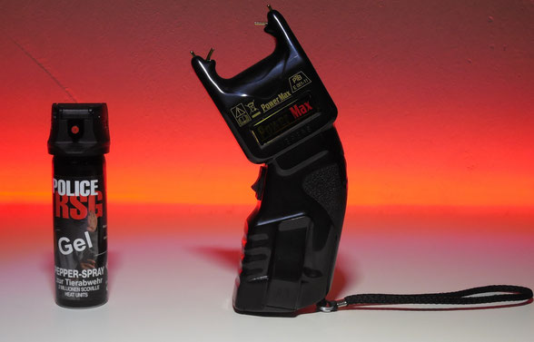 Pfefferspray und E-Schocker BESSER als Gaspistolen im Waffen Shop kaufen